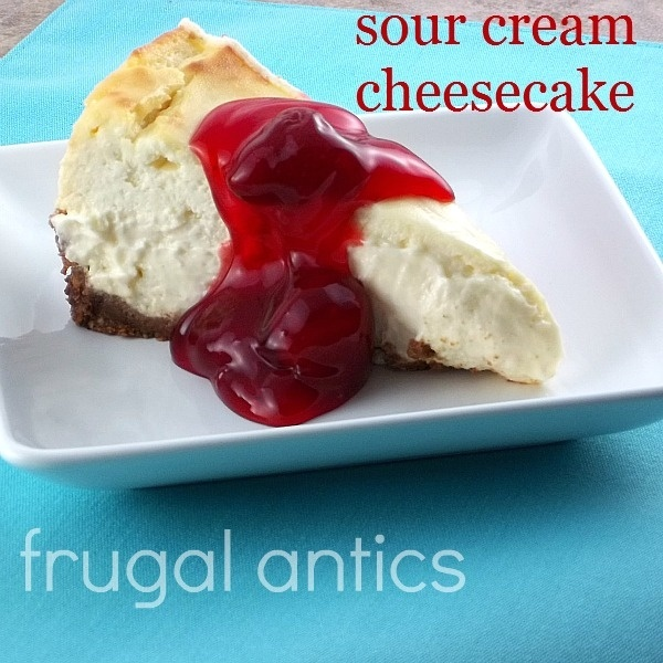 Sour Cream Cheesecake   i cant find   Pinterest