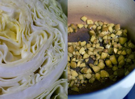 Rustic cabbage soup - My edits: 1. Used 4 cups of stock (not 5) and ...