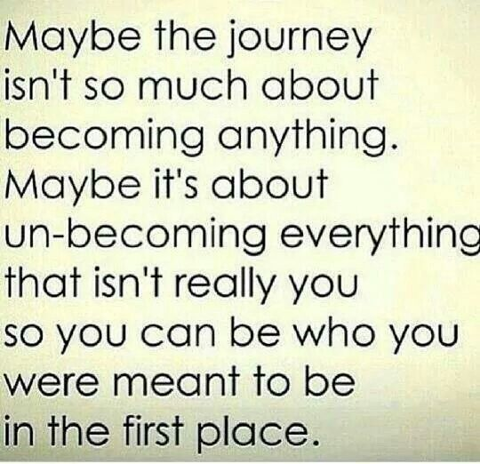 Unbecoming what you weren t meant to be