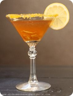 Sweet Tea Lemon Drop Martini