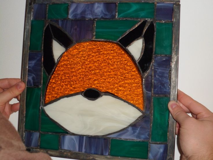 My stained glass fox that I made for Brian. :)