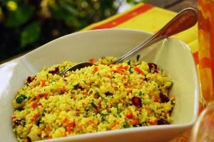 Curried Couscous with Cranberries and Almonds | Recipe