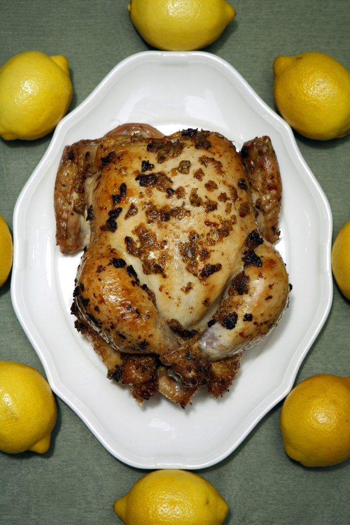 Roast Chicken With Preserved Lemons And Root Vegetables Recipes ...