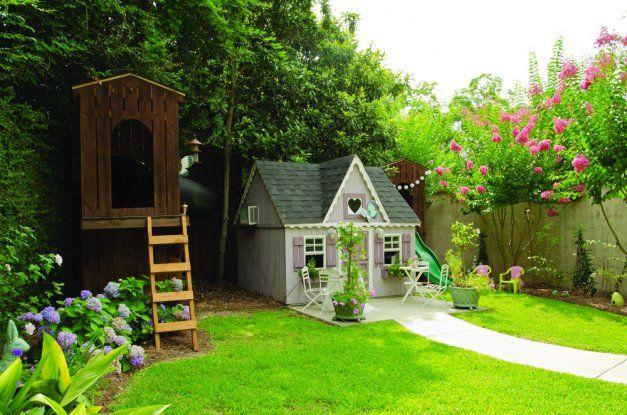Pretty backyard playhouse | outdoor | Pinterest