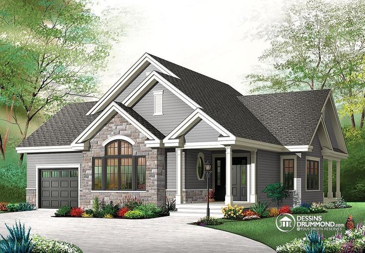 Plan de maison unifamiliale w3235 v2 house home maison for Laviolette garage doors