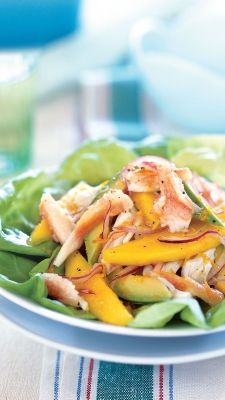 Crab, Mango and Avocado Salad with Citrus Dressing