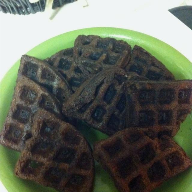 Brownies in my waffle iron:)
