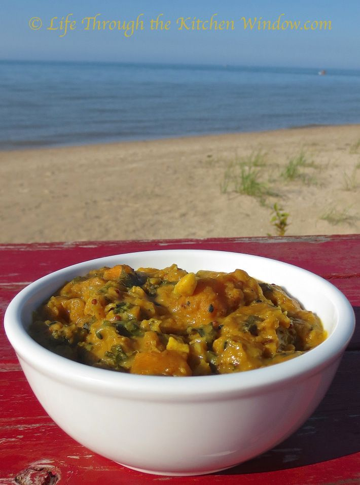 Red Lentil Coconut Dhal with Sweet Potato & Kale │ © Life Through ...
