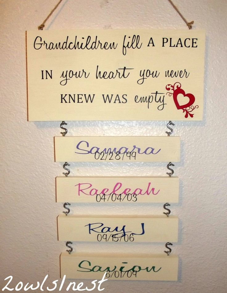 Grandchildren for Homemade gifts from toddlers to grandparents