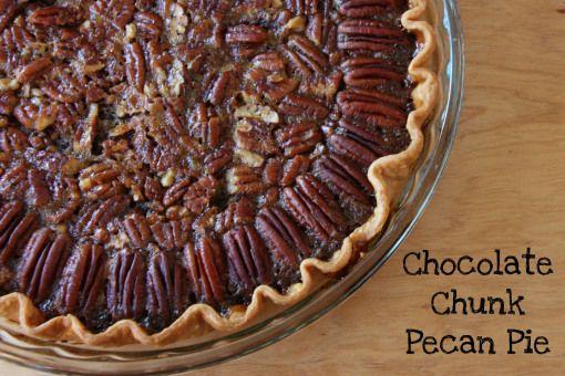 Chocolate Chunk Pecan Pie   Bake   Pinterest
