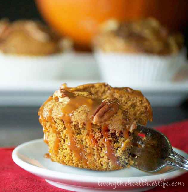 Pumpkin Caramel Muffin with Pecan Streusel | Living the Healthier Life
