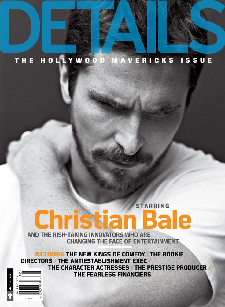 Christian Bale by Mark Seliger for Details Dec 2013