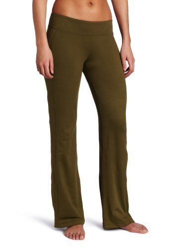 Pant is a full length yoga pant with a slightly flared leg and