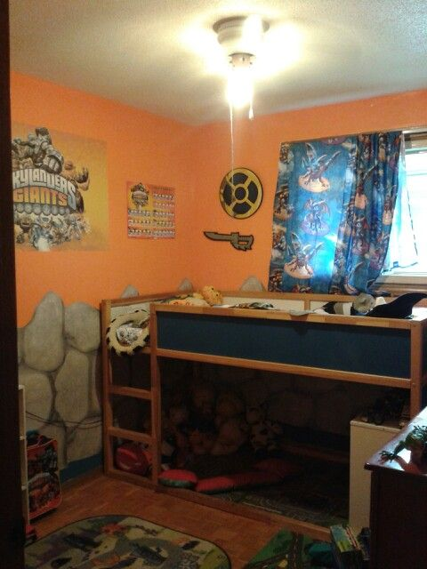 tyson 39 s new skylander room adrian pinterest