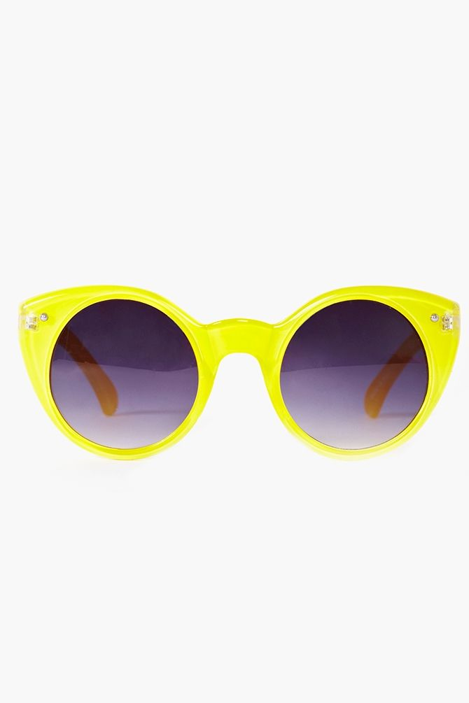 Neon Circle Shades in Yellow