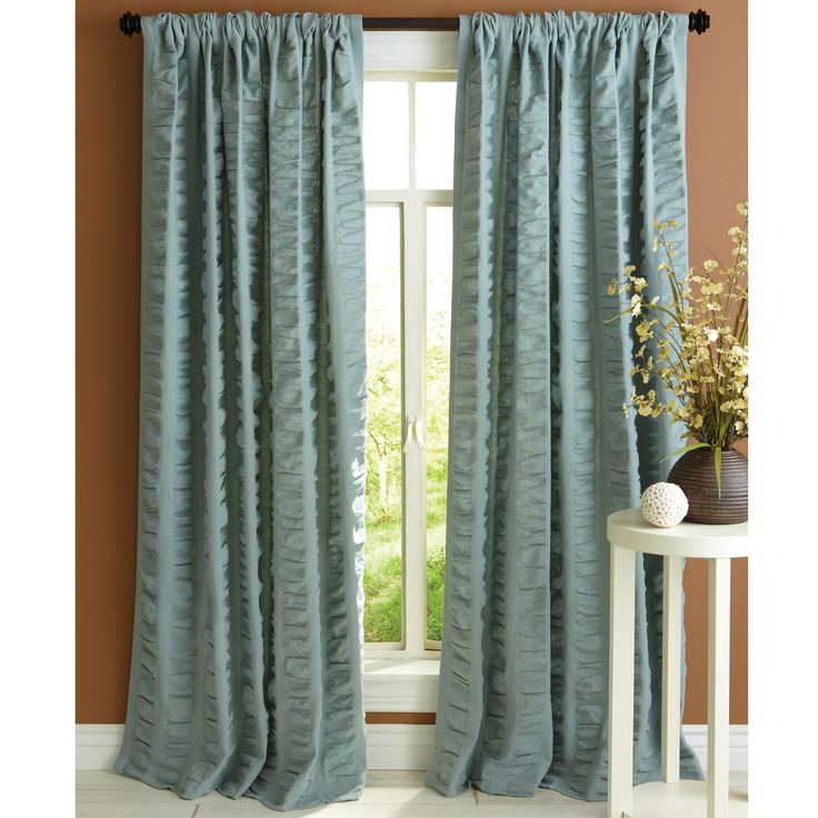 Seersucker Curtain - Smoke Blue | For the Home | Pinterest