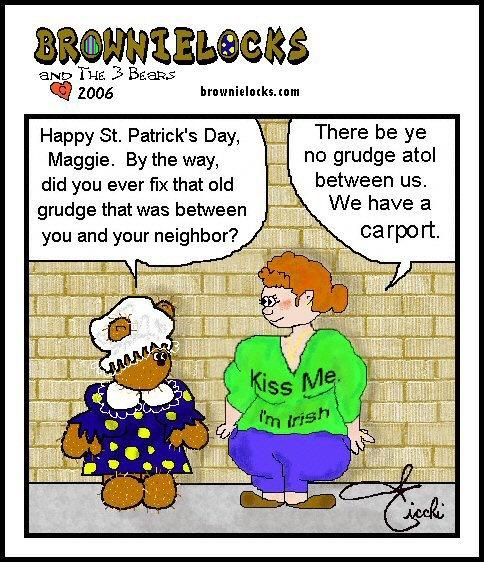 Teddy Bear Cartoon: Irish Joke 4 - Good Neighbors? Good, Clean, Family Fun by Brownielocks. :)