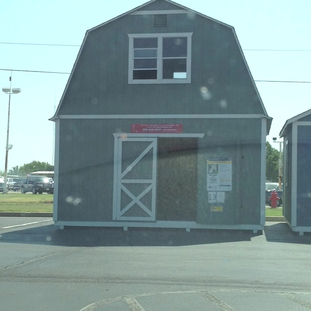 Storage building at Lowes. Big enough to use as a house, or a guest ...