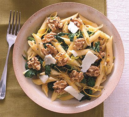 Penne with Broccoli Rabe Walnuts and Pecorino Photo - Penne Recipe ...