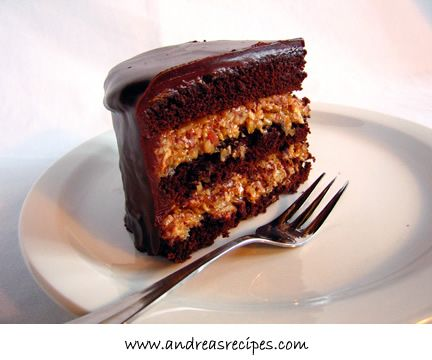 Inside-Out German Chocolate Cake-- ok, so we followed the epicurious ...