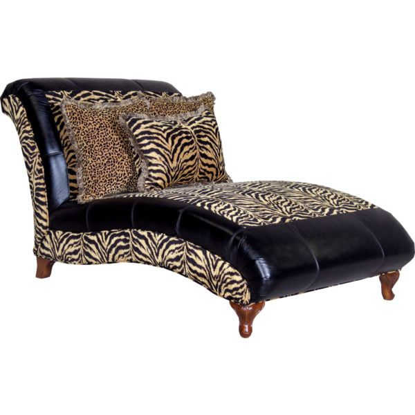 Chaise liked on polyvore animal print pinterest for Animal print chaise