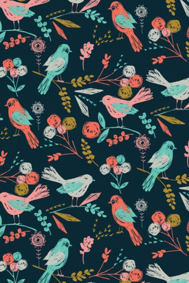 Wallpaper Designs With Birds : Vintage birds wallpaper designs wallpapers skins