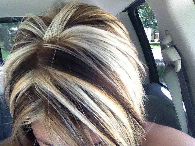 Chunky hair color - love the contrast   Hair     Pinterest