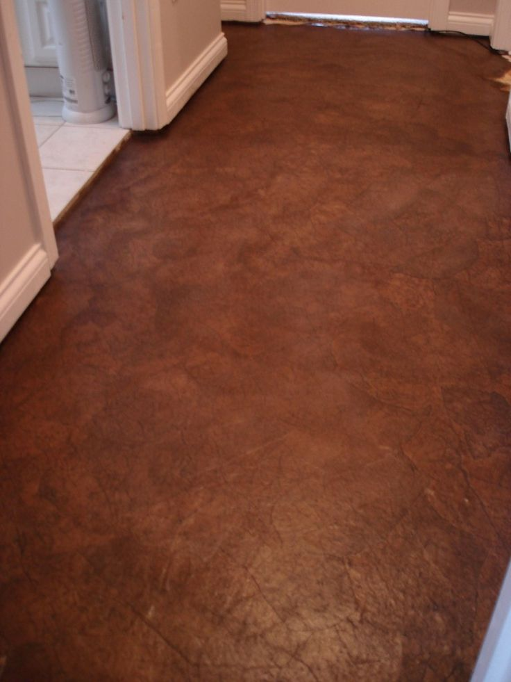 brown paper flooring for a laundry room... I'm curious how this would work out
