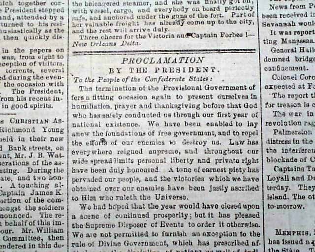 jefferson davis newspaper article