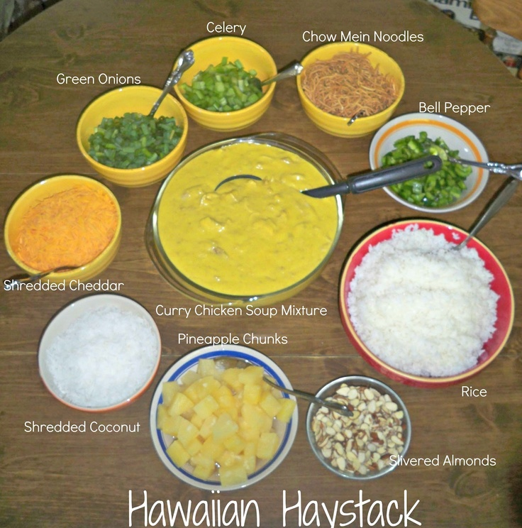 Hawaiian Haystack. This sounds great for a crowd!