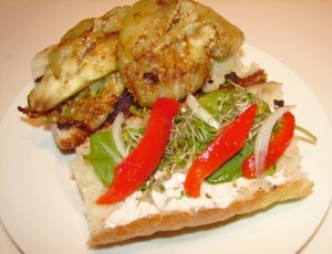 Eggplant and Roasted Red Pepper Sandwich | Fave Vegan in the Kitchen ...