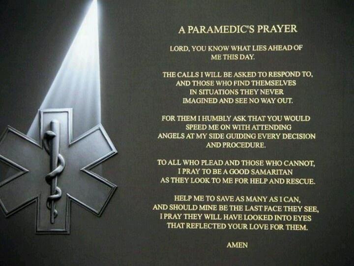 Paramedic Prayer | Quotes | Pinterest