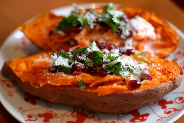 Sweet Potato with Pomegranate, Coconut and Lime by TASTYYUMMIES I will ...