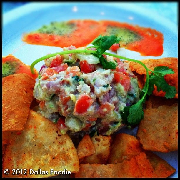 Delicious ahi #tuna #ceviche with #chips that are crispy and flakey ...