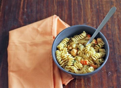 Crawfish pasta with a creamy sauce... looks good!