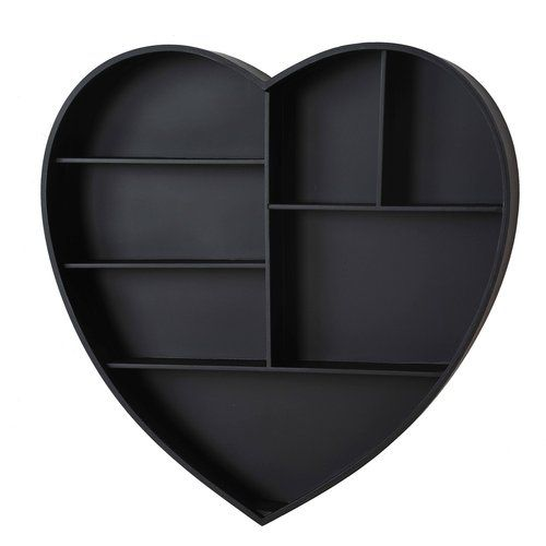 Adeco Decorative Heart Shaped Wooden Wall Shelves