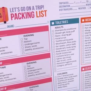 packing list families