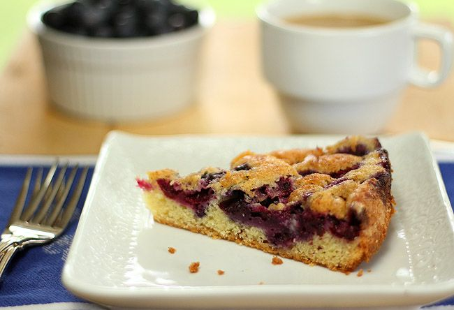 Blueberry Nutmeg Cake from the cookbook 'Ripe' by Cheryl Steinman Rul...