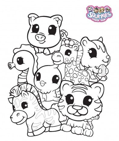 Squinkies Coloring Pages Coloring Pages Squinkie Coloring Pages