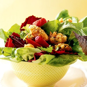 Quick-Fried Chicken Salad with Strawberries | 05 Recipes: Chicken ...