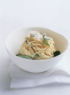 pasta with basil and lemon | Favorite Recipes | Pinterest