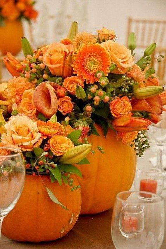 Halloween Wedding Centerpieces