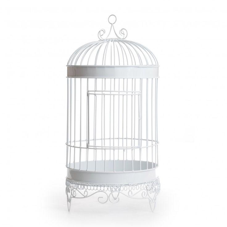 Elegant Large Bird Cage Money Card Box