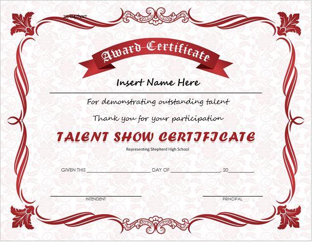 Star Certificate Templates Trattorialeondoro