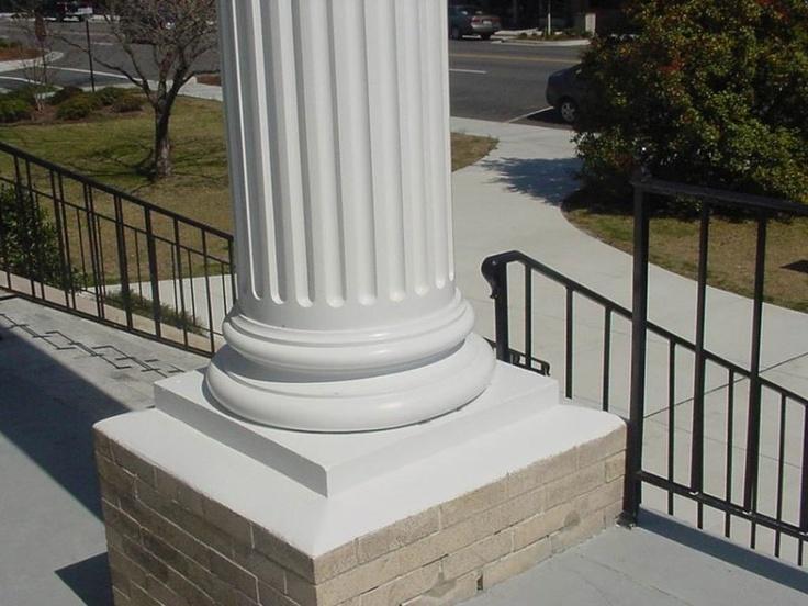 Fluted Columns Fiberglass Attic Base