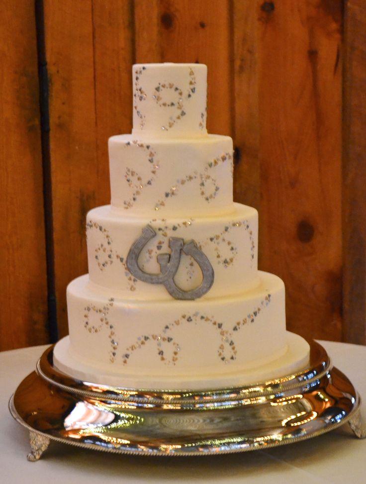 Horseshoe Wedding Cake Fondant Wedding Cakes Pinterest