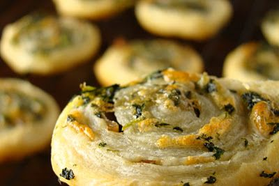 Spinach, Gouda, & Mushroom Pinwheels, love this as an alternative to ...