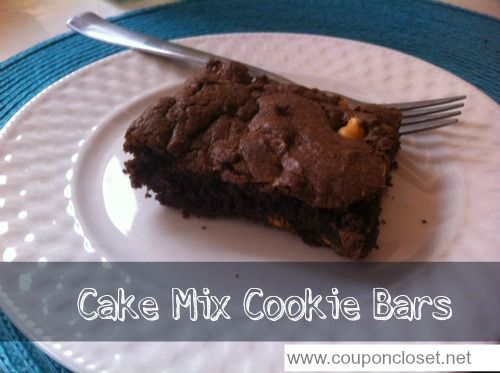 Chocolate Butterscotch Cake Mix Cookie Bar Recipe. JUST 4 INGREDIENTS ...