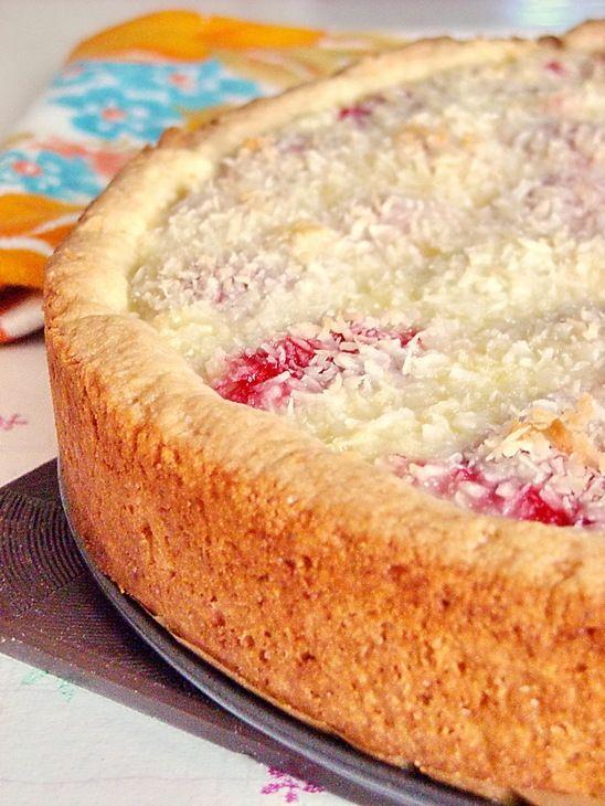 Пирог на кефире с клубникой пошагово