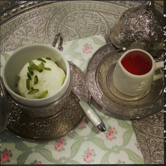 Mastic ice cream with rose syrup   Something sweet   Pinterest